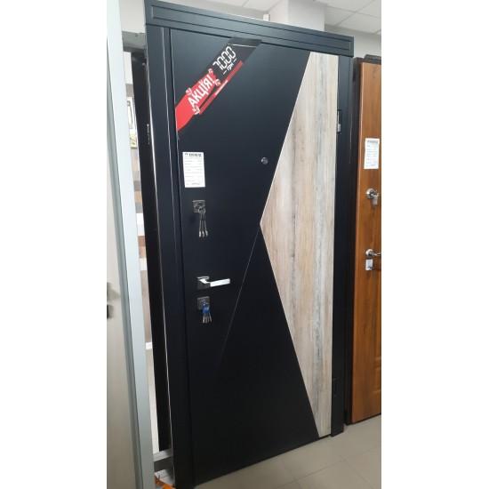 Вхідна дверь Абвер Класік Терамісу 860 права Чорна Шагрень-Секвойя 373