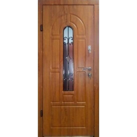 Вхідні двері Екобуд Бастіон Плюс 960 малюнок 92 ПВХ-90 ковка 2