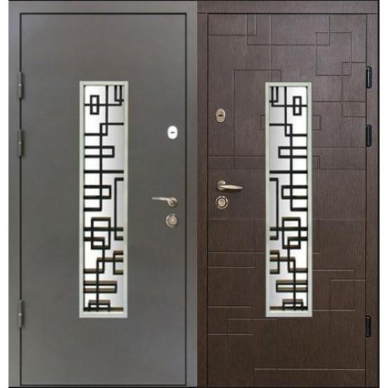 Вхідні двері MAGDA Т 4.1 1200х2050 термо графит 157 без глазка Праві ручка GavrocheBarium