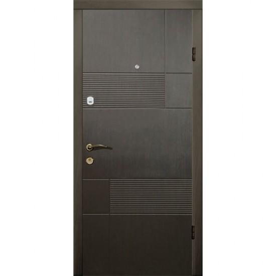 Вхідні двері MAGDA Т-2 960х2050  термо венге горизонт сірий 121 праві