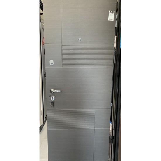 Вхідні двері  MAGDA Т-2 860х2050 венге горизонт сірий 121 ліві