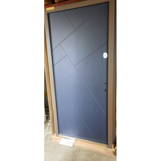 Дверь Т4.1 (R021) 960 термо графіт ~157 + без глазка ліва ручка GavrocheBarium