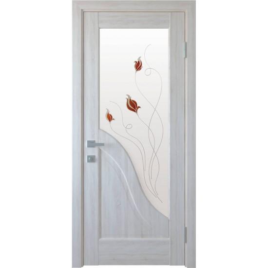 Міжкімнатні двері Новий Стиль ПВХ Амата 600 мм  ясен Р1