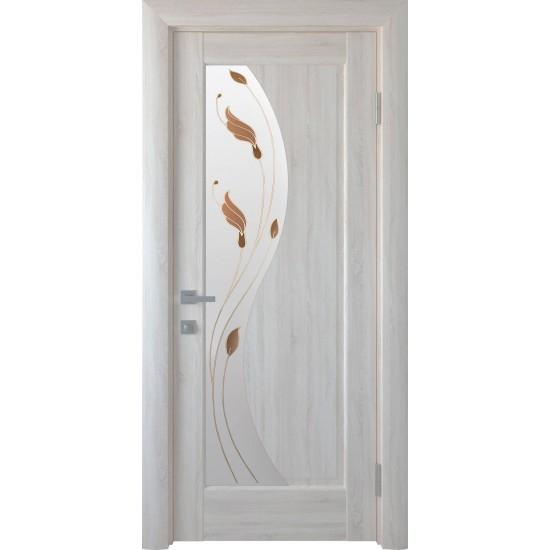 Міжкімнатні двері Новий Стиль ПВХ Ескада 900 мм  ясен Р1