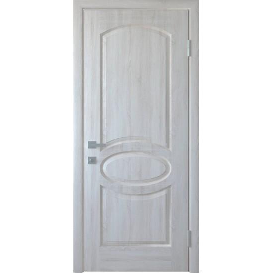 Міжкімнатні двері Новий Стиль ПВХ Делюкс Овал 900 мм ясен new глухі termopack UM