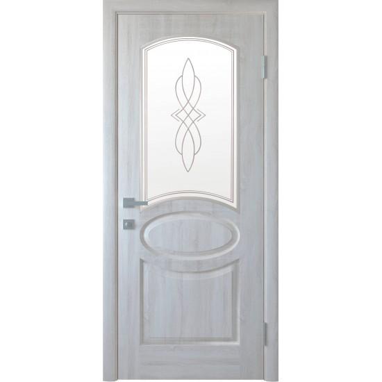 Міжкімнатні двері Новий Стиль ПВХ Делюкс Овал 700 мм ясен new глухі termopack UM