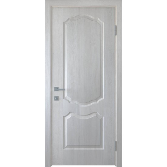 Міжкімнатні двері Новий Стиль ПВХ Делюкс Вензель 600 мм ясен глухі termopack