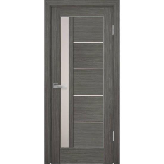 Міжкімнатні двері Новий Стиль ПВХ Делюкс Грета 600 мм grey скло