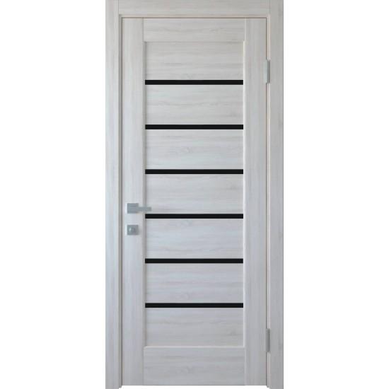 Міжкімнатні двері Новий Стиль ПВХ Ліннея 700 мм  ясен BLK