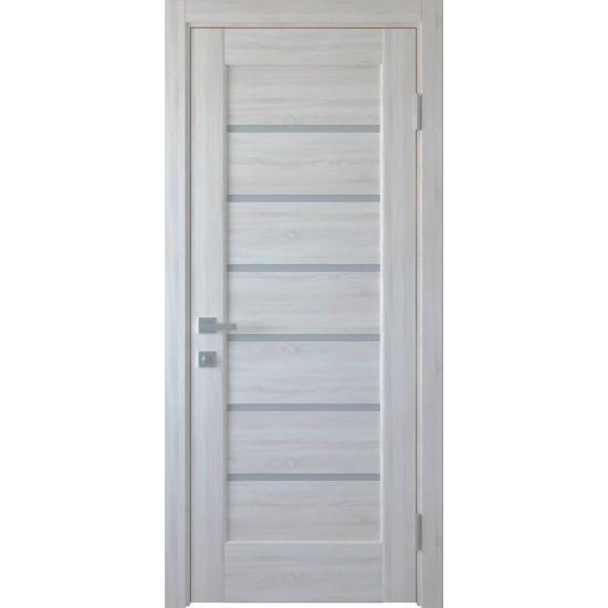Міжкімнатні двері Новий Стиль ПВХ Делюкс Ліннея 600 мм ясен new скло