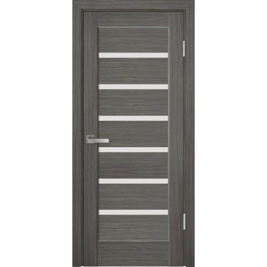 Міжкімнатні двері Новий Стиль ПВХ Делюкс Ліннея 400 мм grey скло