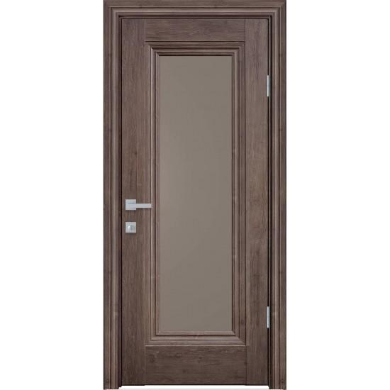 Міжкімнатні двері Новий Стиль ЕкоВуд Мілла 800 мм  горіх норвезький скло