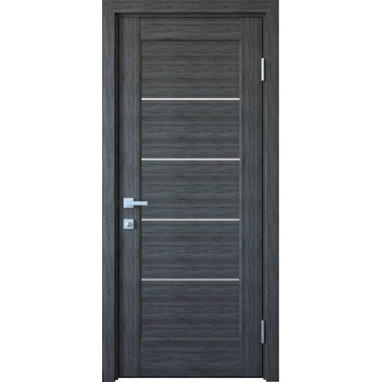 Міжкімнатні двері Новий Стиль ПВХ Делюкс Міра 400 мм grey скло