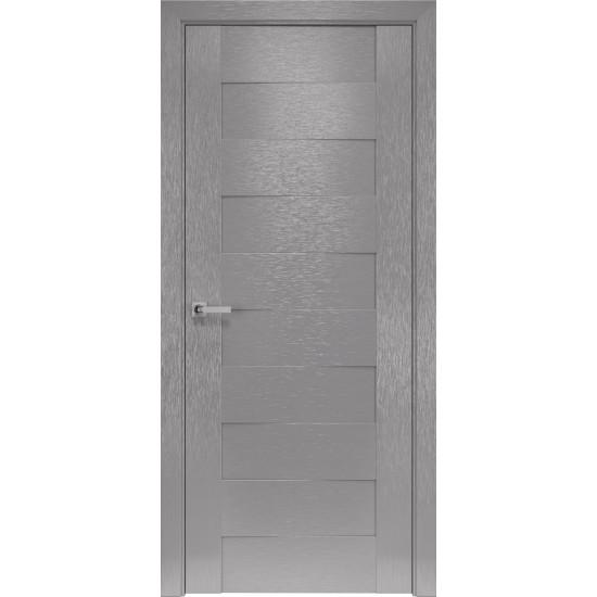Міжкімнатні двері Новий Стиль Шовк Мюнхен 600 мм  х-хром глухі