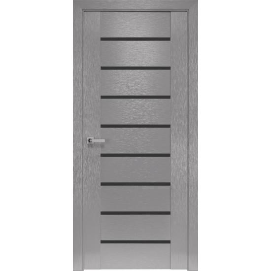Міжкімнатні двері Новий Стиль Шовк Парма 700 мм  х-хром скло BLK
