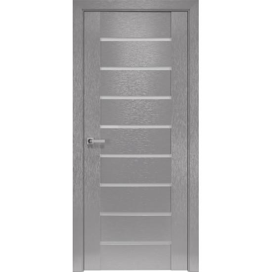 Міжкімнатні двері Новий Стиль Шовк Парма 900 мм  х-хром сатин
