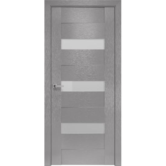 Міжкімнатні двері Новий Стиль Шовк Відень 900 мм  х-хром сатин