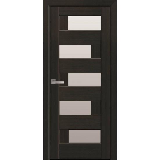 Міжкімнатні двері Новий Стиль ПВХ Делюкс Піана 700 мм венге new скло