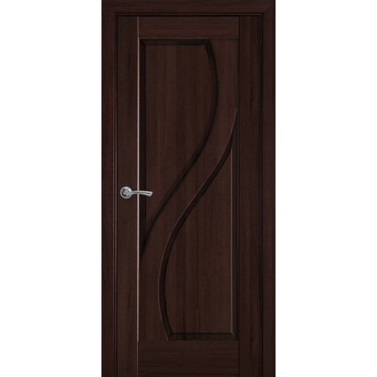 Міжкімнатні двері Новий Стиль ПВХ Делюкс Пріма 700 мм каштан глухі