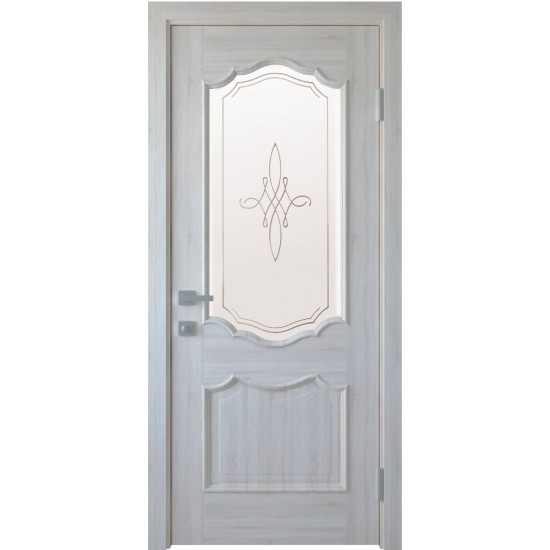 Міжкімнатні двері Новий Стиль ПВХ Делюкс Рока 400 мм  ясен Р1