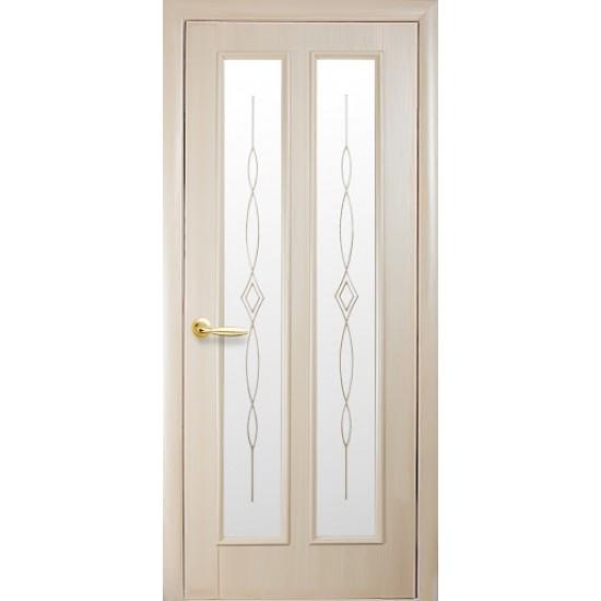 Міжкімнатні двері Новий Стиль ПВХ Делюкс Стелла 600 мм  ясень Р2