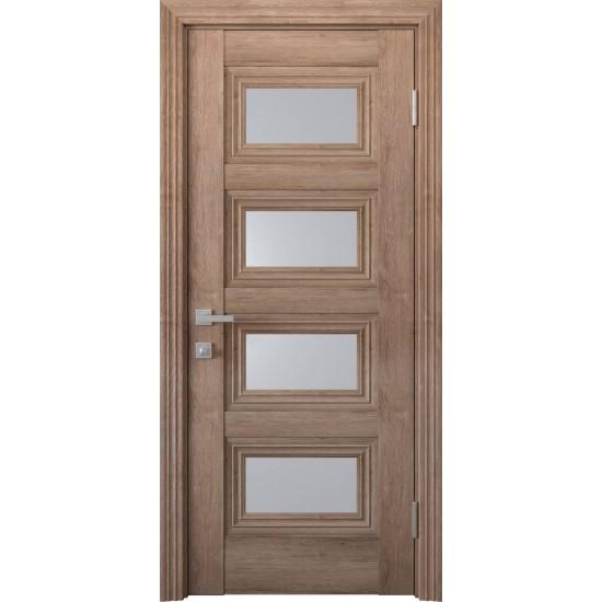 Міжкімнатні двері Новий Стиль ЕкоВуд Тесса 800 мм  горіх європейський скло