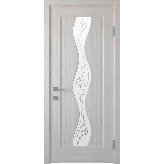Міжкімнатні двері Новий Стиль ПВХ Волна 600 мм ясен Р2