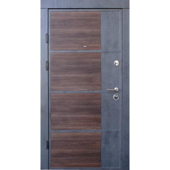 Вхідні двері  Qdoors 850*2050 модель Преміум Бостон-М, Бетон темний/Бетон світлий