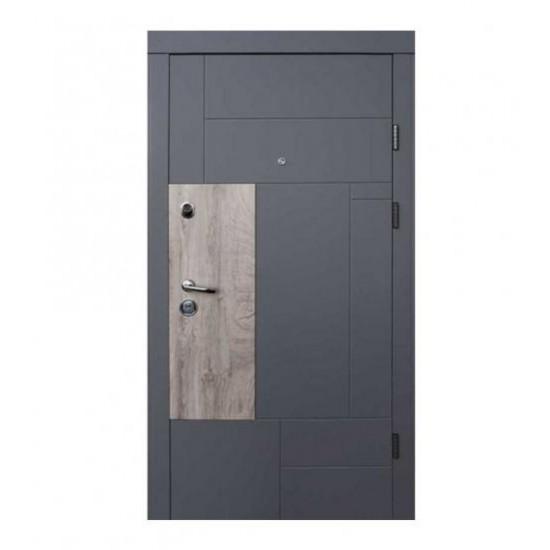 Вхідні двері Qdoors 850*2050 модель Ультра Прайм-М, Елегантний сірий/білий супер мат
