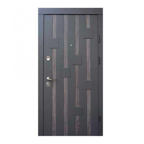 Вхідні двері Qdoors 850*2050 модель  Ультра Рондо-М  Дуб графіт/Дуб шале графіт