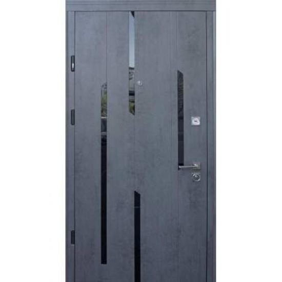Вхідні двері STRAJ 850*2050 модель Стандарт Mirage  Бетон темний /Бетон +Flash