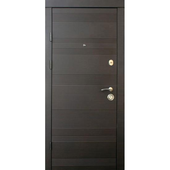 Вхідні двері MAGDA Т-2 860х2050 термо венге горизонт темний 141 ліві
