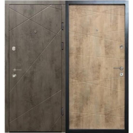 Вхідні двері MAGDA Т-2 860х2050 сланец темний 100/бетон світлий 100 праві