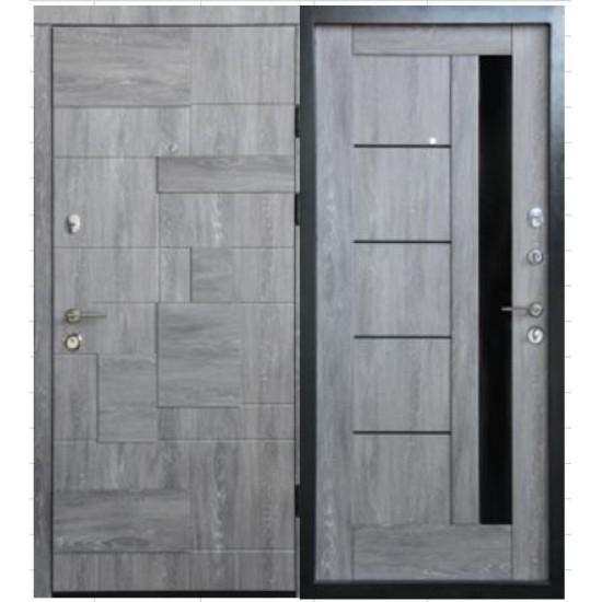 Вхідні двері MAGDA Т-3 860х2050 еко дуб шато 601/605 праві