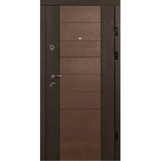 Вхідні двері MAGDA Т-3 860х2050 венге південний/венге магія 600/608 праві