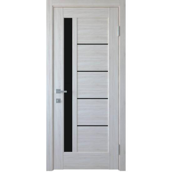 Міжкімнатні двері Новий Стиль Грета 900 мм  ПВХ Делюкс ясен new скло