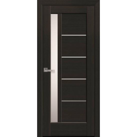 Міжкімнатні двері Новий Стиль ПП Преміум Грета 600 мм  білий матовий скло