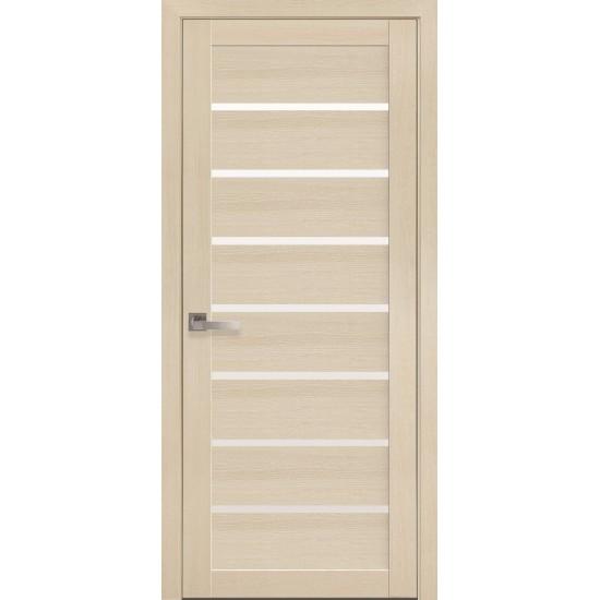 Міжкімнатні двері Новий Стиль Екошпон Леона 600 мм  дуб перлинний скло