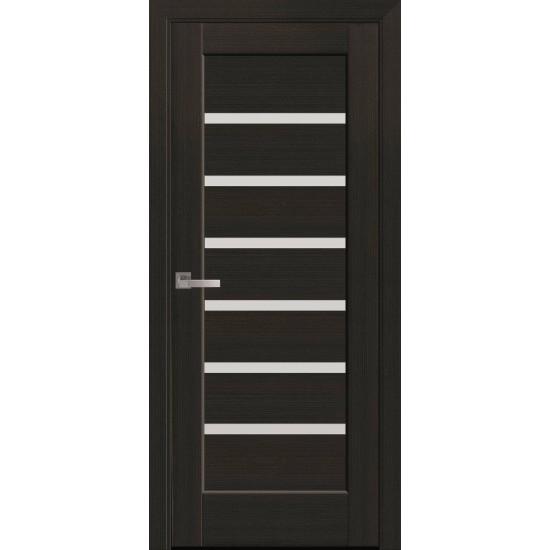 Міжкімнатні двері Новий Стиль Ліннея 700 мм ПВХ Делюкс каштан  скло