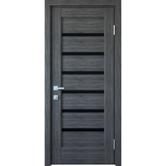Міжкімнатні двері Новий Стиль ПВХ Делюкс Ліннея 900 мм  grey скло