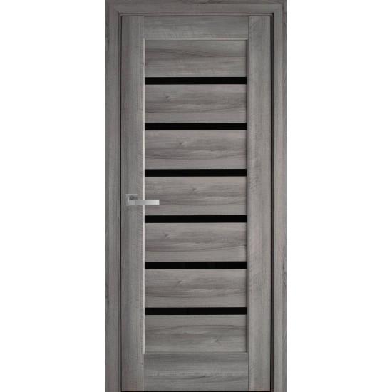 Міжкімнатні двері Новий Стиль ПП Преміум Ліннея 600 мм  білий матовий скло BLK