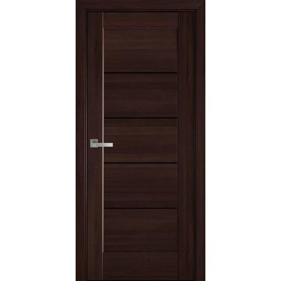 Міжкімнатні двері Новий Стиль ПВХ Делюкс Міра 600 мм  золота вільха скло BLK