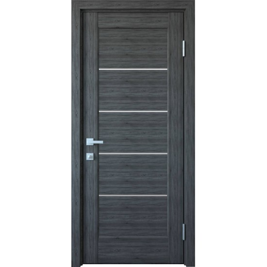 Міжкімнатні двері Новий Стиль ПВХ Делюкс Міра 700 мм  grey new скло