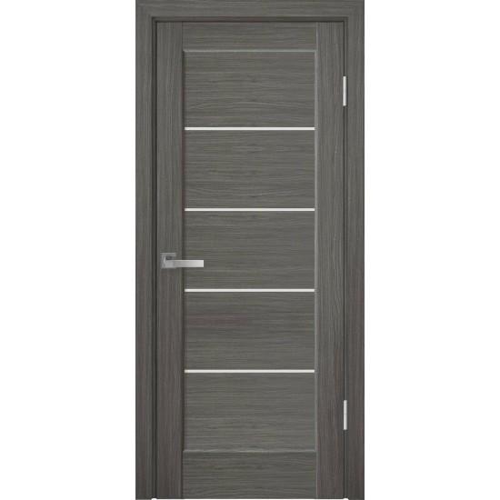 Міжкімнатні двері Новий Стиль ПВХ Делюкс Піана 900 мм  grey скло