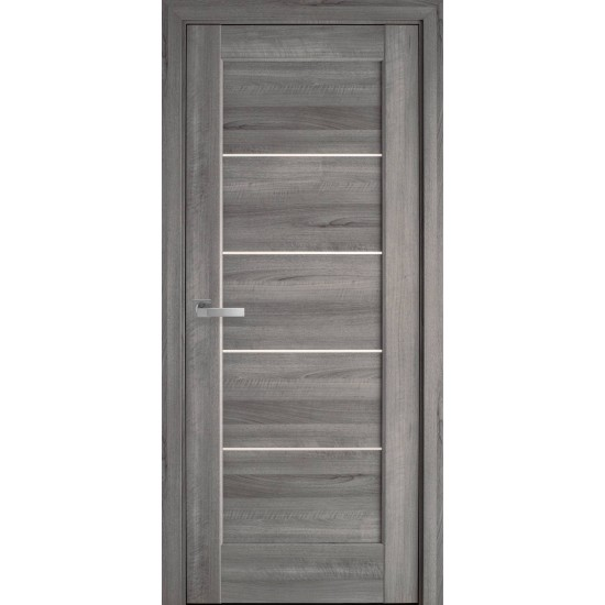Міжкімнатні двері Новий Стиль ПВХ Делюкс Міра 800 мм венге new  скло BLK