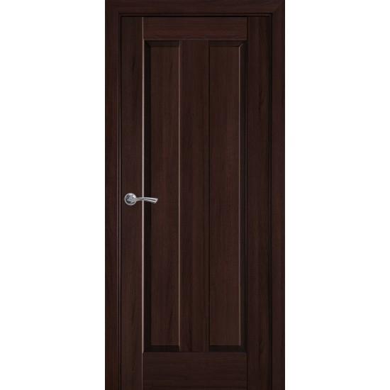 Міжкімнатні двері Новий Стиль ПВХ Делюкс Прем'єра 700 мм  каштан глухі Gr