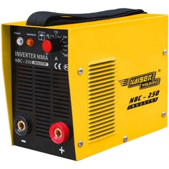 Зварювальний Інвертор Kaiser NBC-250 INDUSTRY, 220 В, зварювальний струм 20-250 А, електроди 1,6-5,0