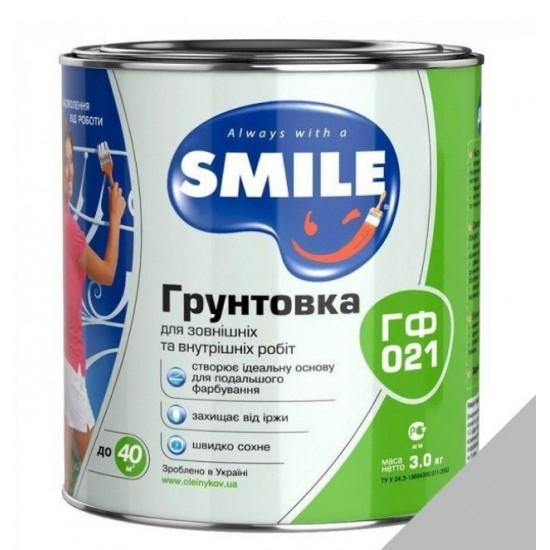 Грунт Smile ГФ-021 антикорозійний швидкозасихаючий Сірий 2,8кг