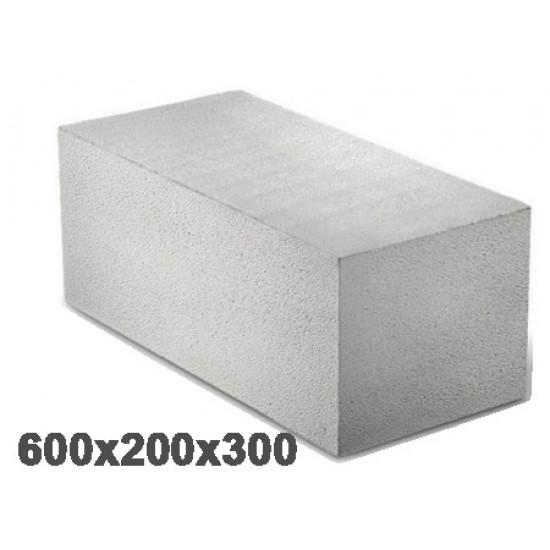 Блоки газобетонні Aeroc (D400) 300/200/610  (2,196м3/пал.60шт.)