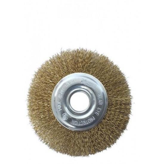 Щітка дискова із плетеної проволоки 125х22,2мм WERK WE107425/132662